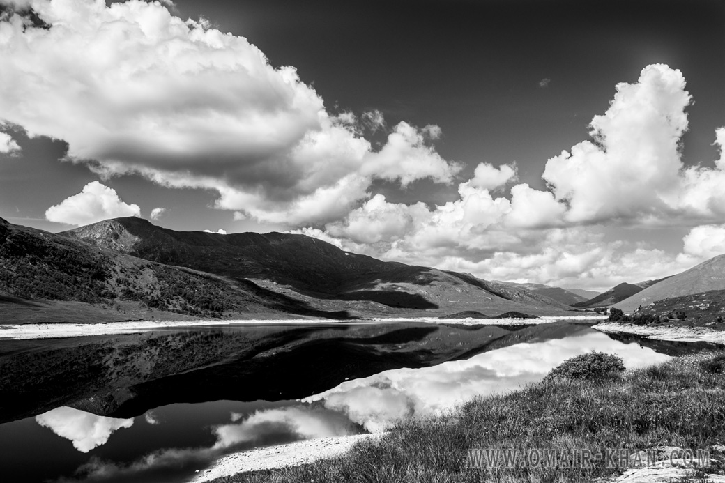 Reflections in Loch Cluanie in the Scottish Highlands