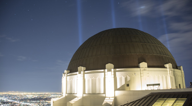 LA Marathon Lights, Griffith Observatory, Los Angeles, CA