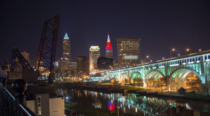 Cleveland from Superior Viaduct, Ohio