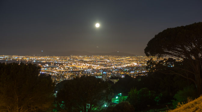 Cape Town at Night, Western Cape, South Africa