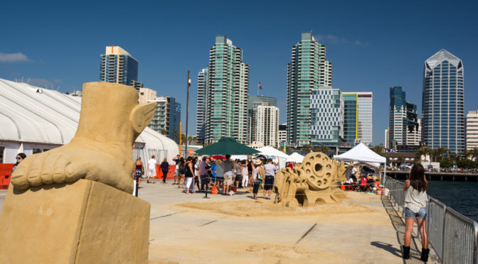 US Sand Sculpting Competition 2016, San Diego, California, USA